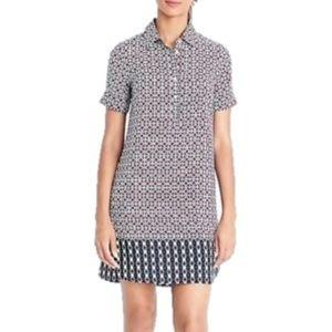 J. Crew Geometric Print Short Sleeve Shirt Dress